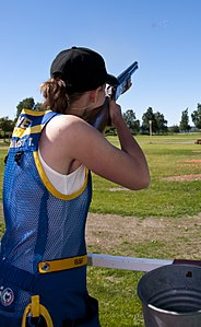 Swedish London Olympic 2012 participant Therese Lundqvist skeet training.jpg