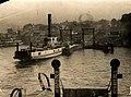 Sydney vehicular ferry KOONDOOLOO at Jeffrey Street Wharf Kirribilli circa 1925.jpg
