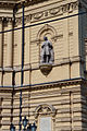 Szeged National Theater facade. Statue of Ferenc Erkel by Antal Tápai (1956).jpg