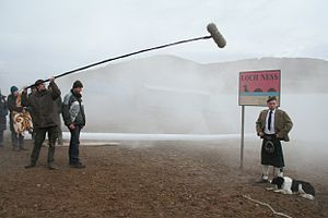 Advertisement film - Filming a movie ad