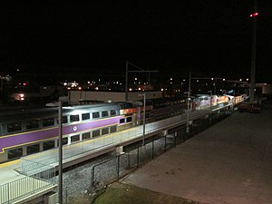 T.F. Green station at night - wide.JPG
