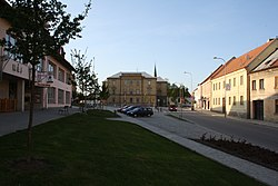 T. G. Masaryk's square in Třešť, Jihlava District.jpg