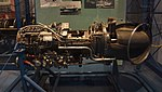 T58-IHI-10M2 turboshaft engine(cutaway model) left side view at Kakamigahara Aerospace Science Museum November 2, 2014.jpg