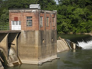 Columbia, Tennessee - The Old Columbia Dam is a concrete gravity dam constructed during the 1930s, before TVA.