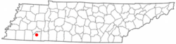 Location of Bethel Springs, Tennessee