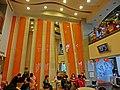 TW 台灣基隆市仁愛區 愛三路 116 Keelung McDonalds Restaurant interior 麥當勞餐廳 wall n visitors n tv set Feb-2013.JPG