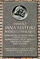 Tablica pamiatkowa Jan Matejko Krakow.jpg