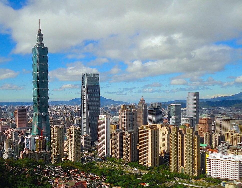Taipei, Taiwan CBD Skyline