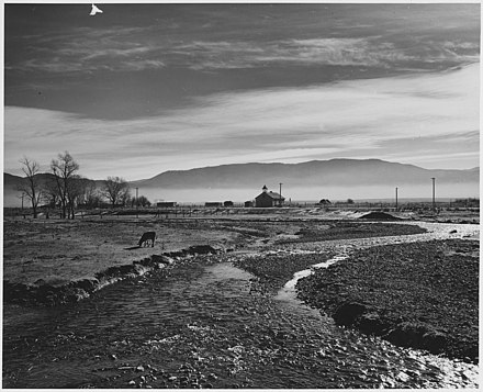 Taos Valley mist in the morning, The Rio Pueblo de Taos, New Mexico