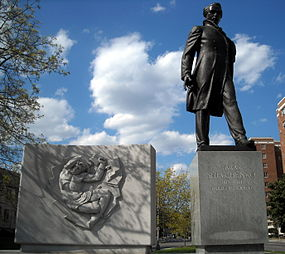 Taras Shevchenko Memorial - statue and relief.JPG