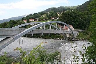 Mastrils - Tardisbrücke village and Tardis bridge (in German: Tardisbrücke)