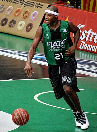 Tariq Kirksay - Kirksay playing for FIATC Joventut, in 2014.