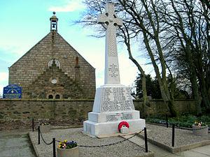 Tarves - Tarves war memorial and church