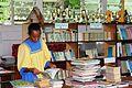 Teacher at the school library, Vanuatu, 2011. Photo- DFAT (12958944845).jpg