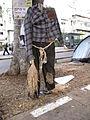 Tel Aviv, apartment price protests at Rothschild Street, scarecrow.JPG