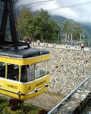 Primer vagón del Teleférico de Mérida, el mas Largo y alto del Mundo.