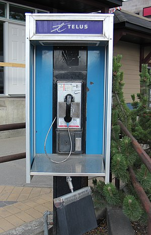 Payphone - Telus payphone in Golden, British Columbia