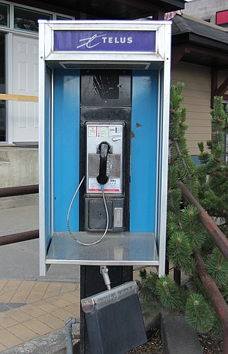 Payphone - Telus payphone in Golden, British Columbia