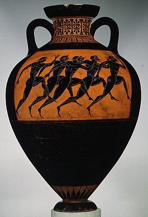 Amphora - Panathenaic prize amphora for runners, c. 530 BC