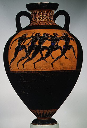 Amphora - Panathenaic prize amphora for runners, c. 530 BC