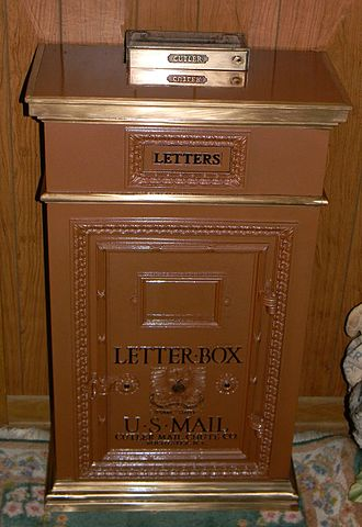 Terre Haute House - Terre Haute House Cutler Mail Chute Box Restored