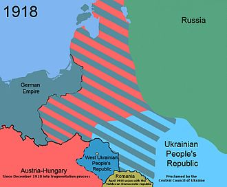 Territorial evolution of Poland - The red and green stripes represent the Treaty of Brest-Litovsk