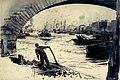 Thames between the Tower and Westminster RMG PW0673.jpg