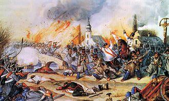 Battle of Kápolna - Painting of The Battle of Kápolna by Mór Than