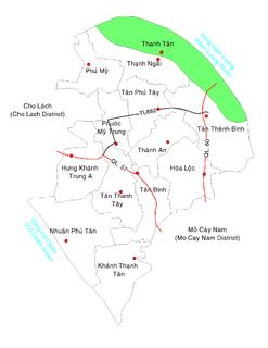 Thanh Tân, Bến Tre Commune and Village in Mekong Delta, Vietnam