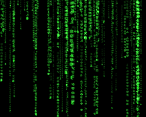 The Matrix - Screenshot of the famous GLMatrix...