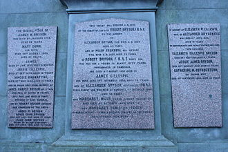 Alexander Bryson - The Bryson family grave, New Calton Cemetery