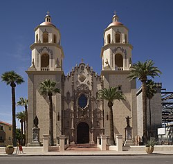 The Cathedral of Saint Augustine, the mother church of the Roman Catholic Diocese of Tucson, Arizona.jpg