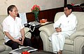 The Chief Minister of Arunachal Pradesh, Shri Nabam Tuki meeting the Union Minister for Civil Aviation, Shri Ajit Singh, to discuss the progress of development of airports in the state, in New Delhi on September 05, 2012.jpg