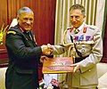 The Chief of Army Staff, General Bipin Rawat presenting the Indian Army Coffee Table Book to the Chief of General Staff, UK, Gen. Sir Nicholas Carter, in New Delhi on February 15, 2018.jpg