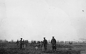 Christmas truce - British and German troops burying the bodies of those killed in the attack of 18 December.