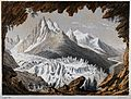 The Glacier des Bains, Mont Blanc, from the Montanvert to Ch Wellcome V0025175.jpg