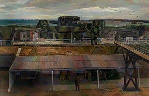 Barnett Freedman - The Gun (1940) (Art.IWM ART LD391)