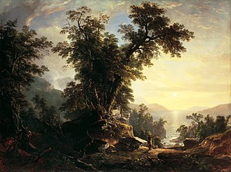 American Art-Union - The Indian's Vespers by Asher Brown Durand was commissioned by the American Art-Union in 1847.