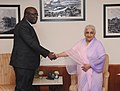 The Minister of Culture of the Republic of Senegal, Mr. Adboul Aziz Mbaye meeting the Union Minister for Culture, Smt. Chandresh Kumari Katoch, in New Delhi on July 29, 2013.jpg