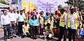 The NDMC Brand Ambassador and Paralympics athlete, Ms. Deepa Malik with NDMC Safai Karamcharis and DoPT officials during the launch of 'Swachhta Hi Sewa' cleanliness campaign.jpg