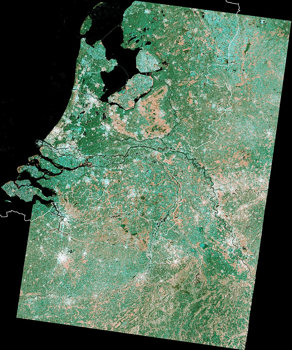 The Netherlands - Sentinel-1A satellite