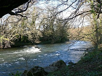 River Ogmore - The Ogmore River at Pen-y-cae, north of Bridgend.
