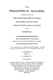 <i>Philosophical Magazine</i> scientific journal established in 1798