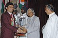 The President Dr. A.P.J. Abdul Kalam presenting the Arjuna Award -2005 to Shri Surya Shekhar Ganguly for Chess, at a glittering function in New Delhi on August 29, 2006.jpg
