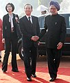 The Prime Minister, Dr. Manmohan Singh meeting the Chinese Premier, Mr. Wen Jiabao at the Ceremonial Reception, at Rashtrapati Bhawan, in New Delhi on December 16, 2010.jpg