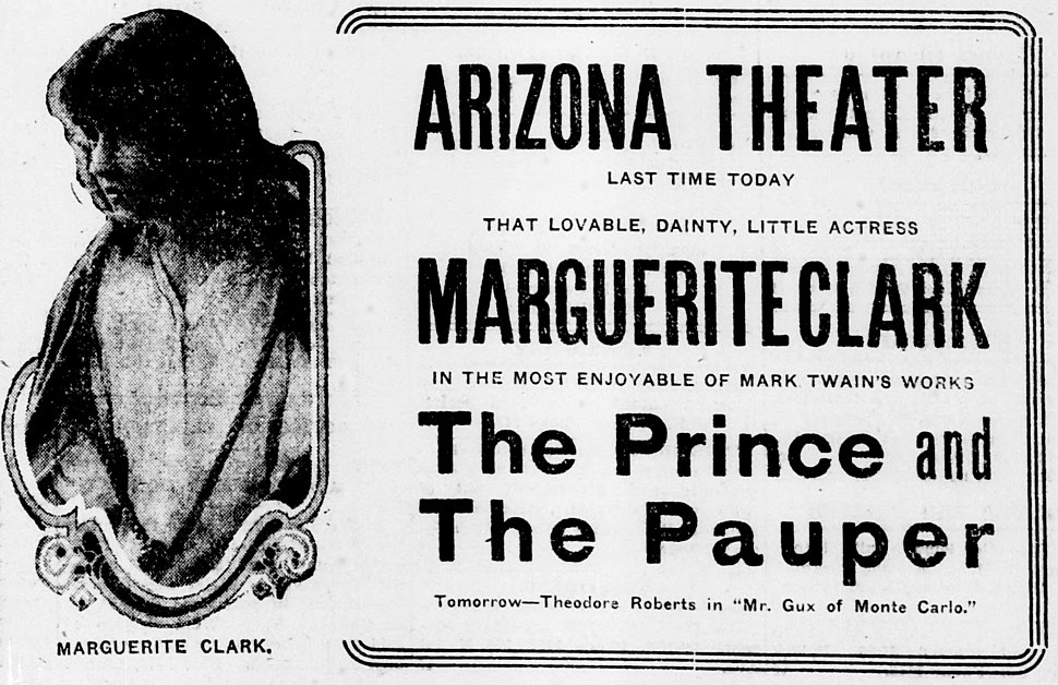 The Prince and the Pauper 1916 newspaper