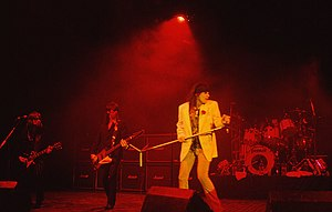 The Quireboys performing in the Hammersmith Odeon venue in London, 7 April 1993