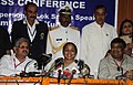 The Speaker, Lok Sabha, Smt. Meira Kumar addressing the press conference after the closing ceremony of 4th India and Asia Region Commonwealth Parliamentary Association Conference, at Raipur Chhattisgarh on October 27, 2010.jpg
