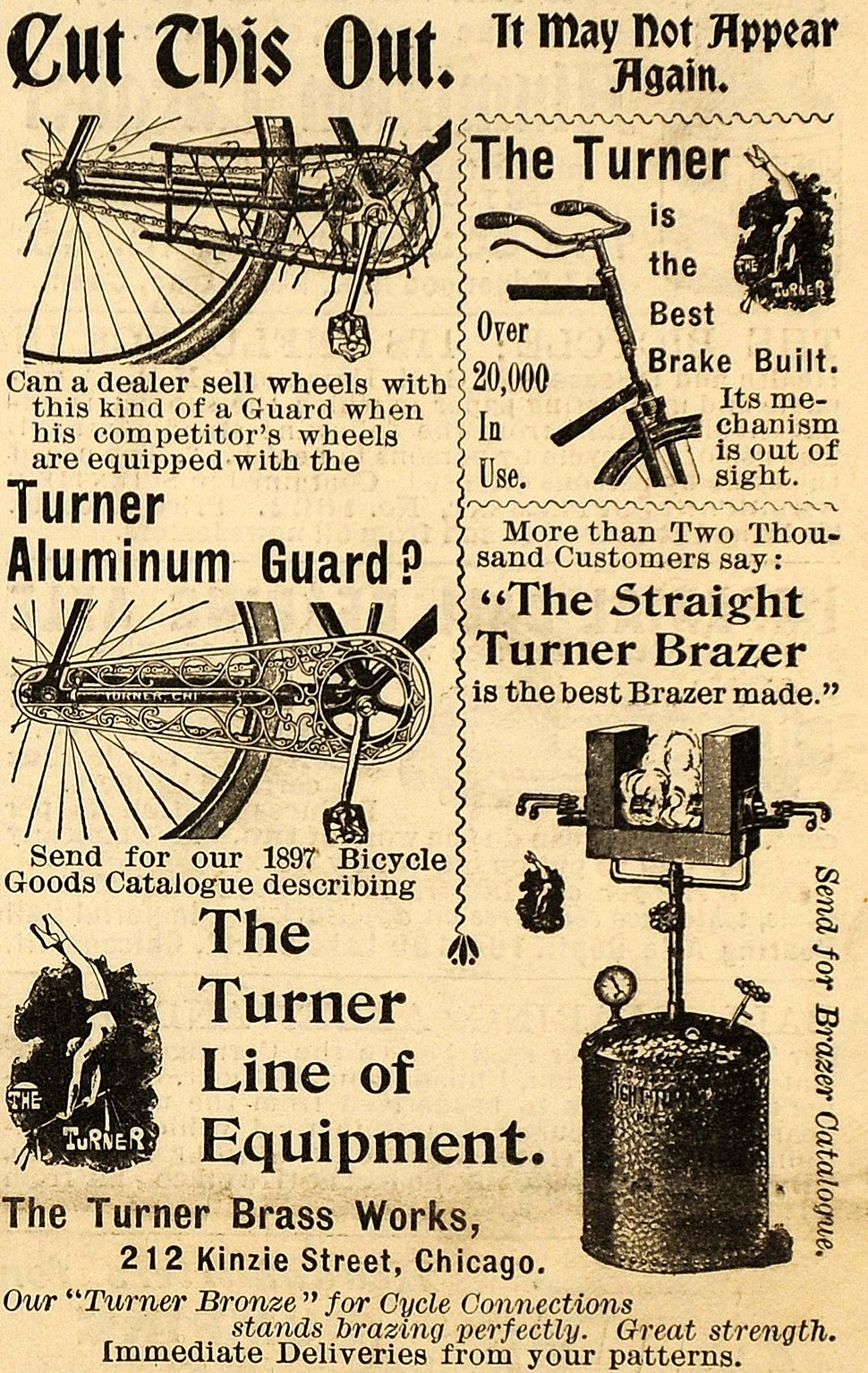The Turner Brass Works ad 1897