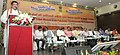 The Union Minister for Tribal Affairs, Shri Jual Oram addressing at the 'National Meeting of Tribal Women Gram Panchayat Presidents from Fifth Schedule Areas', at Vijayawada, Andhra Pradesh.jpg